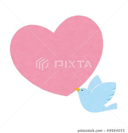 心和鳥矢量 49984055
