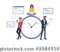 Business team near big round clock 49984936
