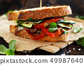 Sandwich with grilled vegetables 49987640
