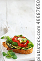 Sandwich with grilled vegetables 49987650