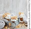 White currants and yogurt 49988273