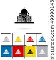 Taj Mahal in India icon vector 49990148