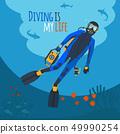 Diver underwater 49990254