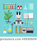 Biology laboratory icons 49990649