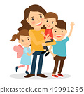 Mother with kids 49991256