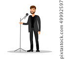 Stand Up Show Isolated Color Vector Illustration 49992597