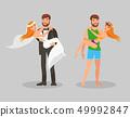 Wedding and Honeymoon Flat Vector Illustration 49992847