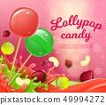 Vector Illustration Lettering Lollypop Candy. 49994272
