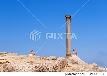 Pompey's Pillar and , Alexandria, Egypt. 49996604
