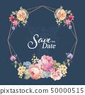 優雅美麗的牡丹花卉和邀請卡設計 50000515