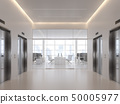 Elevator hall in front of modern office 3d render 50005977