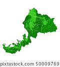 福井县地图和市政边界 50009769