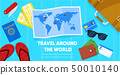 Map and Tourist Accessories Passport Ticket Wallet 50010140