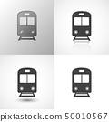 Set of train icons 50010567