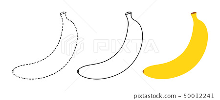 Banana to be colored and trace line 50012241