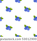 Seamless pattern with blueberry 50012900