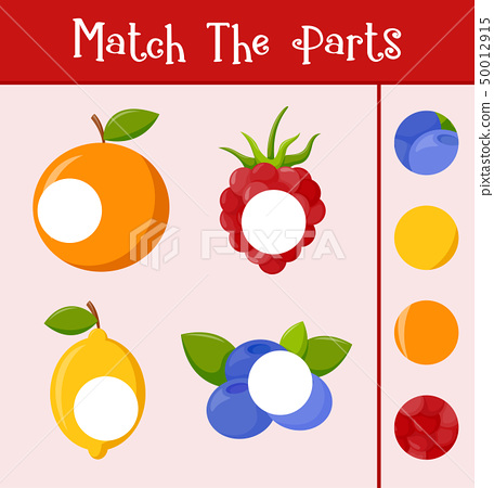 Kids learning game, match the parts 50012915