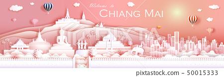 Travel landmark culture Chiangmai Thailand with 50015333