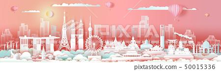 Landmarks Asia travel downtown cityscape skyline . 50015336