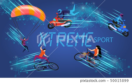 Men and Women Doing Xtreme Sport Extreme Activity 50015899