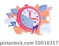 Vector Illustration Rational Staff Time Management 50016357