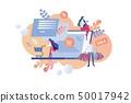 Vector Illustration Inscription Sale Percent. 50017942