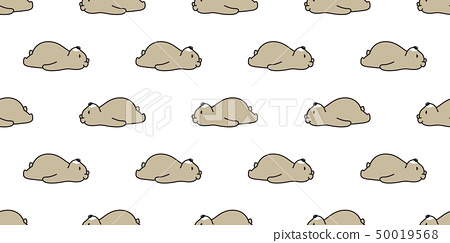 Bear seamless pattern polar bear vector sleeping 50019568