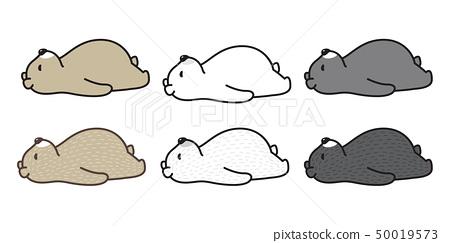 bear vector polar bear sleeping logo icon cartoon  50019573