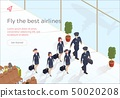 Illustration Fly Best Airlines Aircraft Crew. 50020208