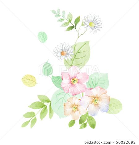 小清新水彩花卉組合 50022095