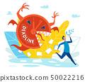 Man is Under Severe Stress Due to Deadline Flat. 50022216