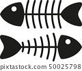 skeleton of fish 50025798