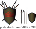Crossed weapon shield 50025799