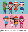 Kids with winter clothes 50035035