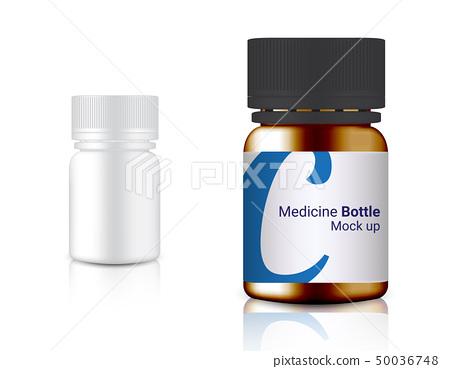 3D Mock up Realistic Medicine Bottle for Calcium 50036748