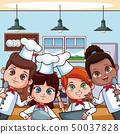 Chef kids at kitchen 50037828