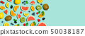 Collection of mixed fruits 50038187