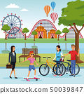 People in the park scenery 50039847