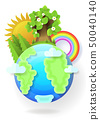 Vector illustration of earth globe. A blue planet 50040140