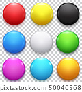 Realistic Color Blank Circle Button Badge Set 50040568