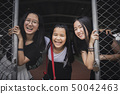 group of cheerful asian teenager happiness emotion 50042463