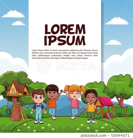 Kids at park poster 50044071