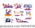 People Every Day Life Routine, Spend Time at Home. 50046038