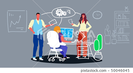 businesspeople group meeting brainstorming process project work concept business people team 50046045