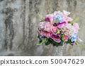 bouquet flower in vase 50047629