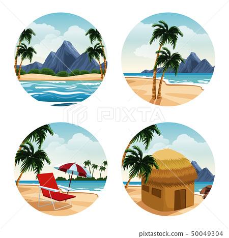 Isolated islands cartoon 50049304