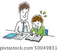 Instructor teaching teaching to boy 50049831