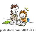 Instructor teaching a girl study 50049833