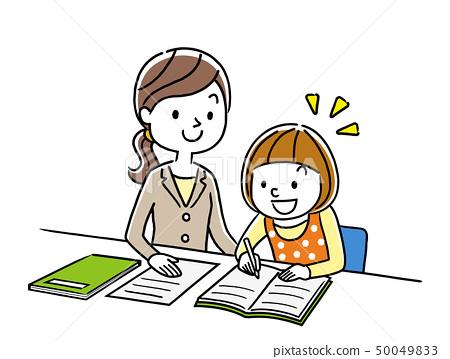 讲师教一个女孩学习 50049833