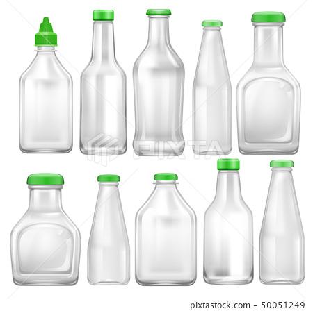 Set of transparent bottle 50051249